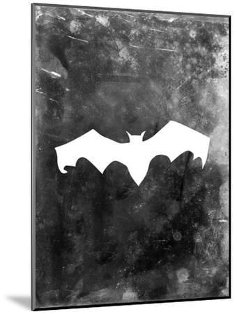 Black Bat Halloween-Jetty Printables-Mounted Art Print