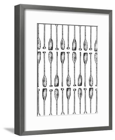 Oar Paddle Pattern-Jetty Printables-Framed Art Print