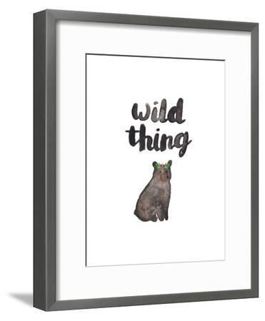Wild Thing Bear-Elena O'Neill-Framed Art Print