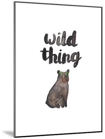 Wild Thing Bear-Elena O'Neill-Mounted Art Print