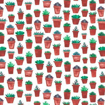 Succulent Pots-Elena O'Neill-Framed Art Print