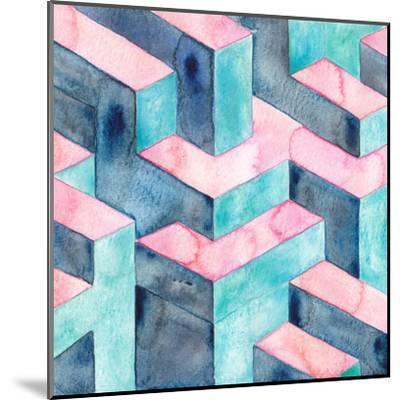 Watercolour Illusion-Elena O'Neill-Mounted Art Print