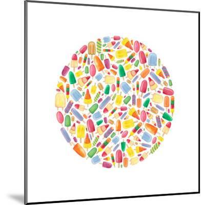 Ice Lolly Circle-Elena O'Neill-Mounted Art Print