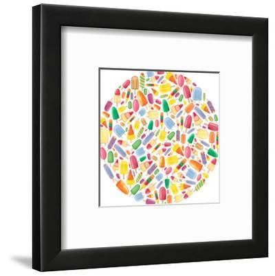 Ice Lolly Circle-Elena O'Neill-Framed Art Print