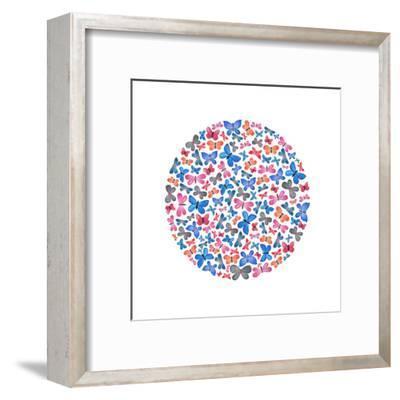 Butterfly Circle-Elena O'Neill-Framed Art Print