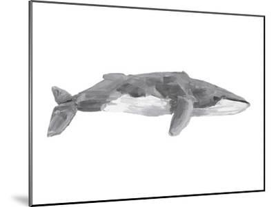 Fin Whale Painting Print-Jetty Printables-Mounted Art Print