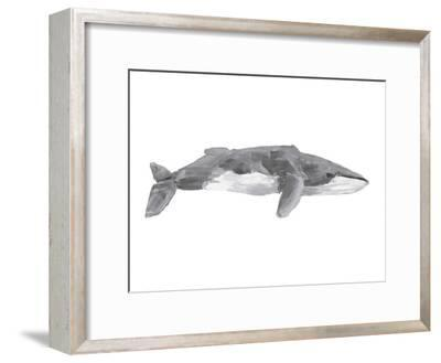 Fin Whale Painting Print-Jetty Printables-Framed Art Print