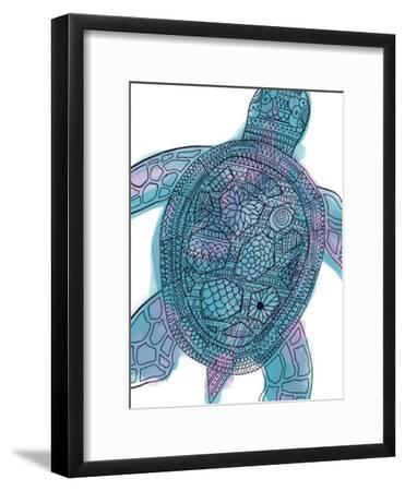 7ce3314183b3f Watercolor Tribal Pattern Sea Turtle-Jetty Printables-Framed Art Print