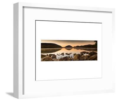 Eagle Lake Panorama-Michael Hudson-Framed Art Print