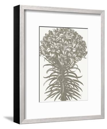 Lilies (Ivory & Burlap)-Botanical Series-Framed Art Print
