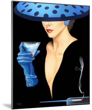 Spotted Hat Lady II-Gerard Kelly-Mounted Giclee Print