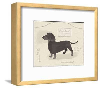 Dog Club - Dachshund-Clara Wells-Framed Art Print