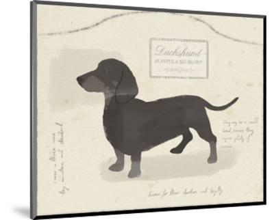 Dog Club - Dachshund-Clara Wells-Mounted Art Print