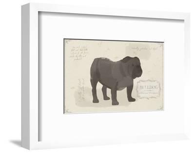 Dog Club - Bulldog-Clara Wells-Framed Art Print