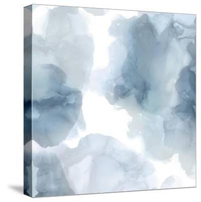 Elevate in Blue-Lauren Mitchell-Stretched Canvas Print