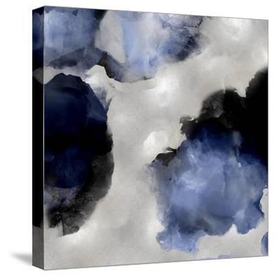 Whisper in Indigo III-Lauren Mitchell-Stretched Canvas Print