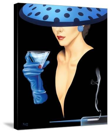 Spotted Hat Lady II-Gerard Kelly-Stretched Canvas Print