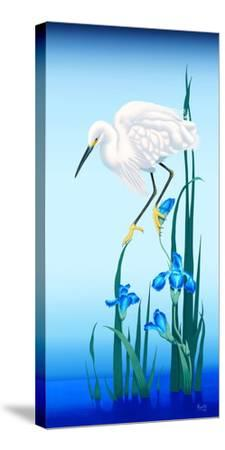 Spring Egret-Gerard Kelly-Stretched Canvas Print