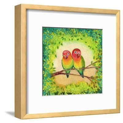 Love Birds-Jennifer Lommers-Framed Art Print