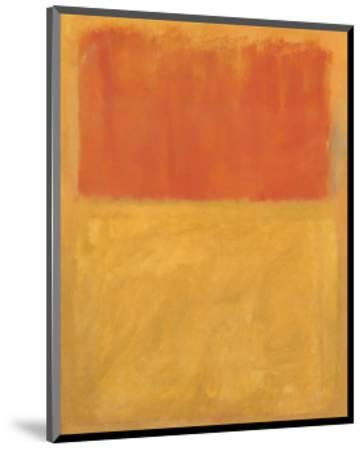 Orange and Tan, 1954-Mark Rothko-Mounted Art Print