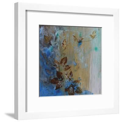 Jewelled Leaves XVII-Hollack-Framed Giclee Print