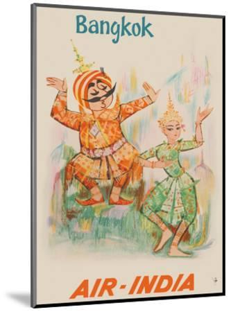 Bangkok, Thailand - Air India - Maharaja with Thai Classical Khon Dancer-Unknown-Mounted Art Print