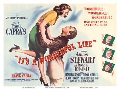 "Frank Capra's ""It's a Wonderful Life"" - Starring James Stewart, Donna Reed-Unknown-Framed Art Print"