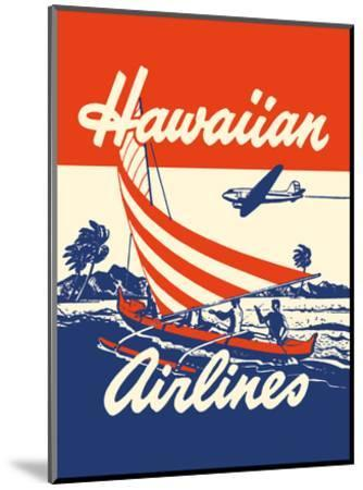 Hawaiian Airlines - Hawaiians in Outrigger Canoe (Wa�a)-Unknown-Mounted Art Print
