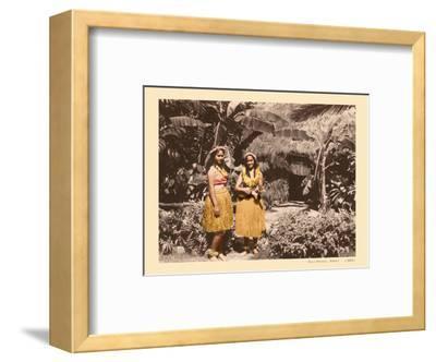 Hula Girls Hawaii-Unknown-Framed Art Print