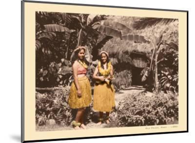 Hula Girls Hawaii-Unknown-Mounted Art Print