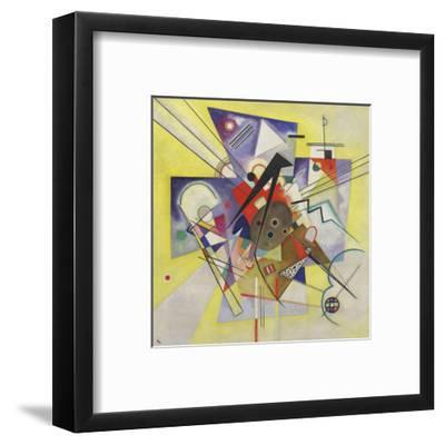 Yellow Accompaniment, February-March 1924-Wassily Kandinsky-Framed Art Print