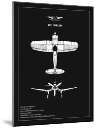 BP CV F4U-Corsair Black-Mark Rogan-Mounted Giclee Print