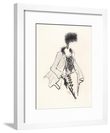 Fur Hat-Jane Hartley-Framed Giclee Print