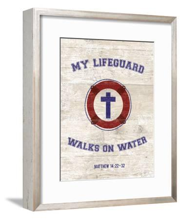 My Lifeguard Walks - Nautical-The Vintage Collection-Framed Giclee Print