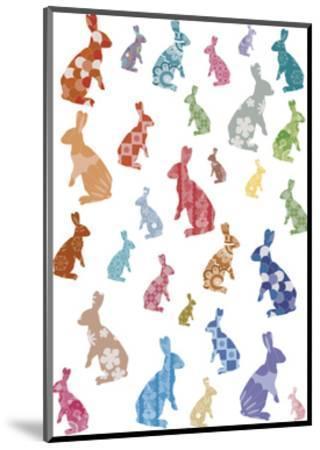 A Warren of Rabbits-Clara Wells-Mounted Giclee Print