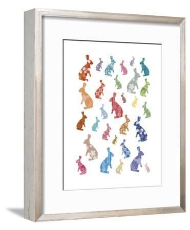 A Warren of Rabbits-Clara Wells-Framed Giclee Print