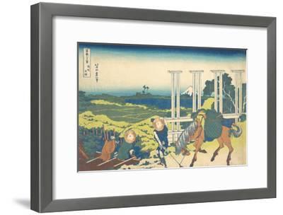 Bushu Senju-Katsushika Hokusai-Framed Premium Giclee Print