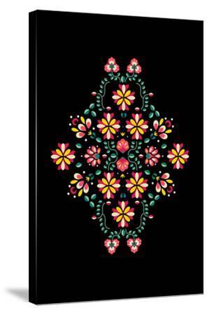 Folk Flowers I-Myriam Tebbakha-Stretched Canvas Print