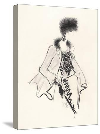 Fur Hat-Jane Hartley-Stretched Canvas Print