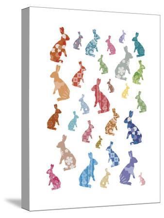 A Warren of Rabbits-Clara Wells-Stretched Canvas Print