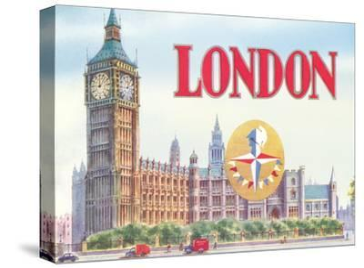 Big Ben London-Found Image Press-Stretched Canvas Print