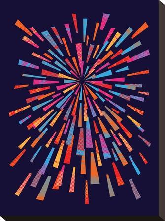 Fireworks-Joe Van Wetering-Stretched Canvas Print