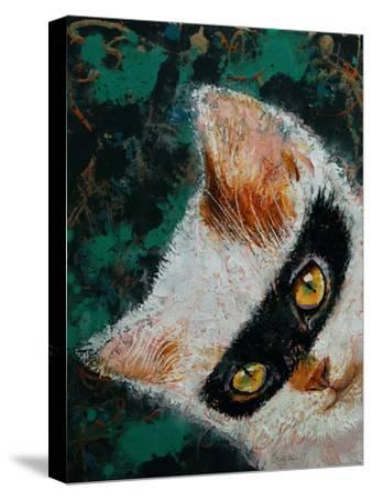 Cat Burglar-Michael Creese-Stretched Canvas Print