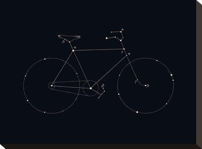 Bike Constellation-Florent Bodart-Stretched Canvas Print