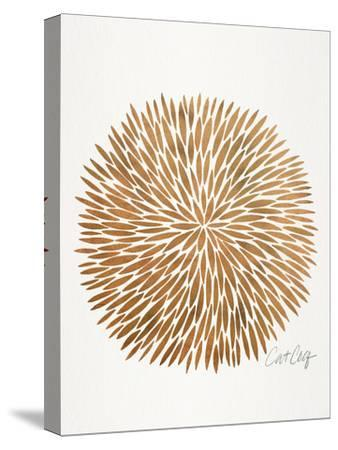 Rose Gold Burst-Cat Coquillette-Stretched Canvas Print