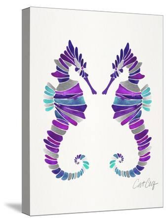 Seahorses-Cat Coquillette-Stretched Canvas Print