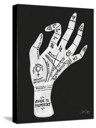 Palmistry Black And White-Cat Coquillette-Stretched Canvas Print