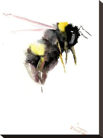 Bumblebee 3-Suren Nersisyan-Stretched Canvas Print