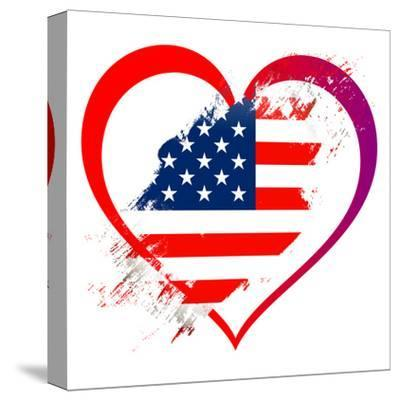 Heart America-Wonderful Dream-Stretched Canvas Print