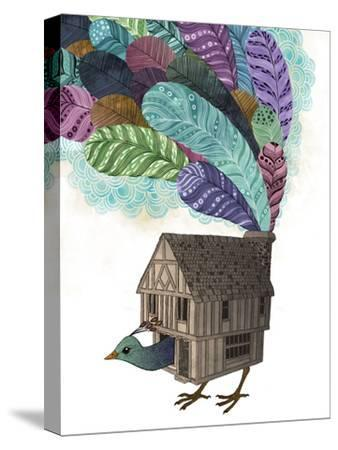Bird House Revisited-Laura Graves-Stretched Canvas Print
